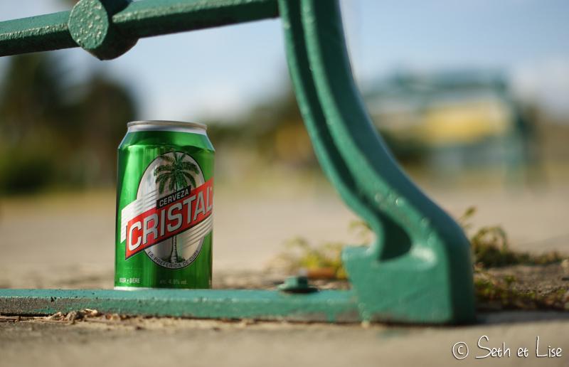 La Cristal, bière blonde qui rafraîchit le gosier des cubains et des touristes.