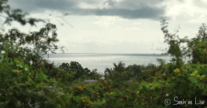 On pourrait presque apercevoir les côtes de Floride d'ici