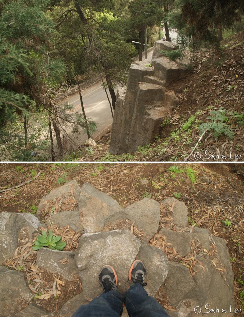 colonne de basalte sur le cerro san cristobal