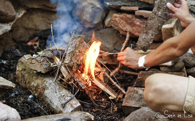 faire du feu