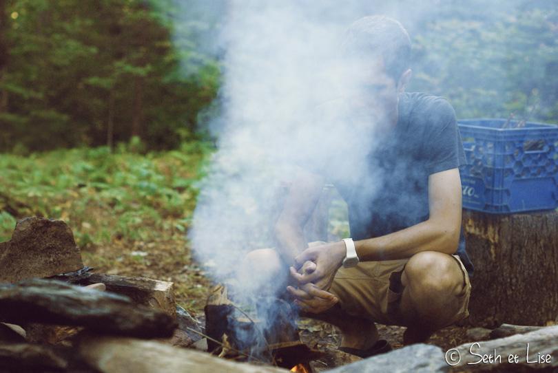 fumée de feu