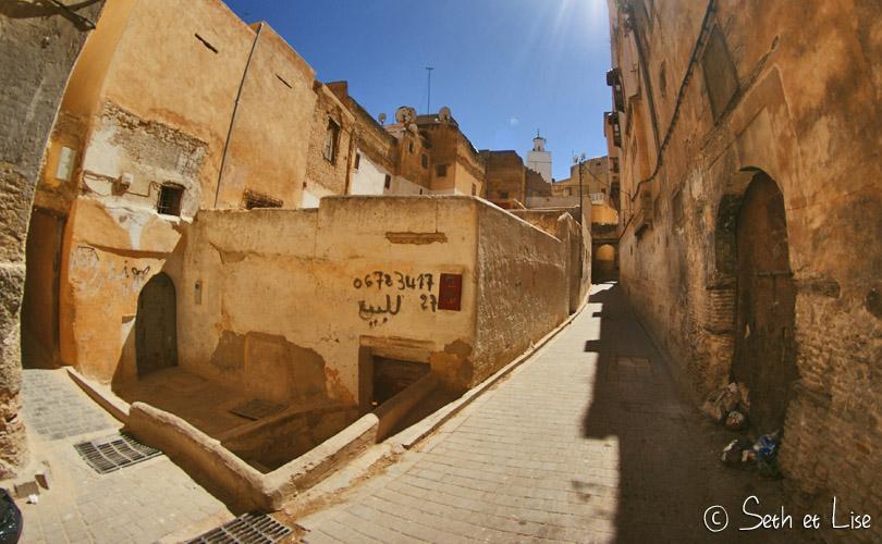 rue medina de fes maroc