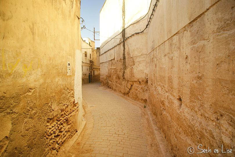 ruelle architecture de fes maroc