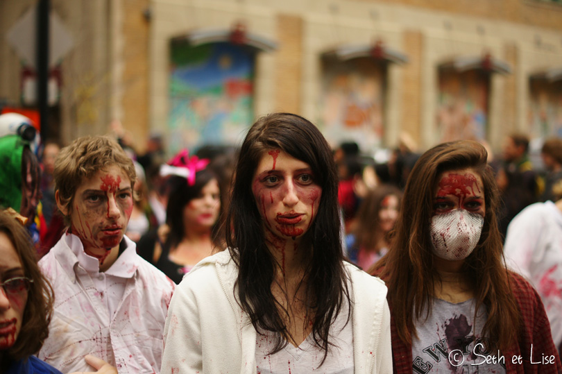 zombie girl marche des zombies montreal
