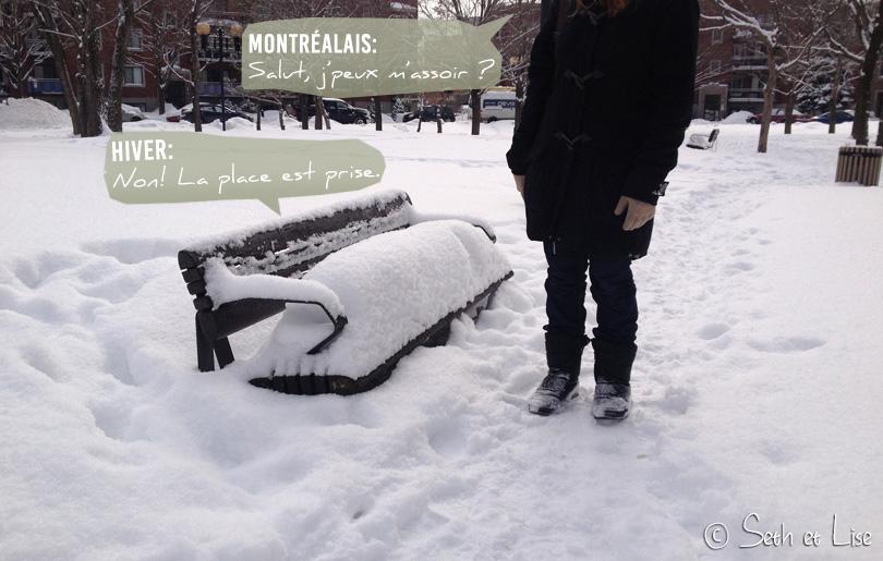 banc neige montreal