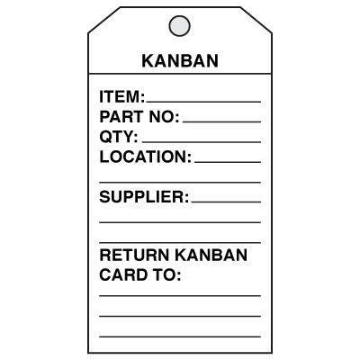 Kanban Cards from Seton, Stock items ship TODAY, Custom ships