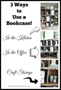 Three Ways to Use a Bookcase for Storage and Organization ...