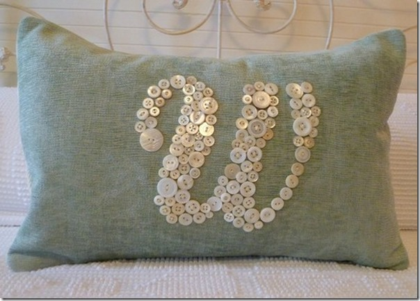 burlap monogram pillow
