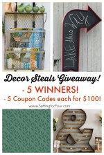 Enter Now Decor Steals Giveaway Winners Coupon Codes Each For