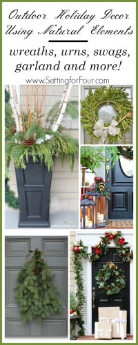 Outdoor Holiday Decor With Natural Elements - Setting for Four
