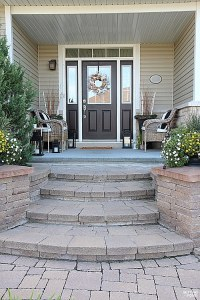 Curb Appeal Ideas and Porch Decor Tips - Setting for Four