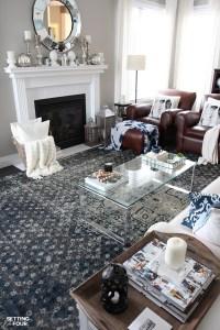 An Indigo Blue Color Scheme For Our Living Room - Setting ...