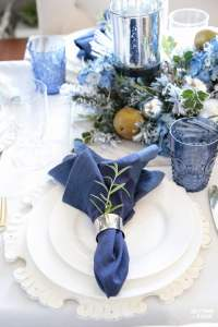 Elegant Fall Table Settings With A Blue And White Palette ...