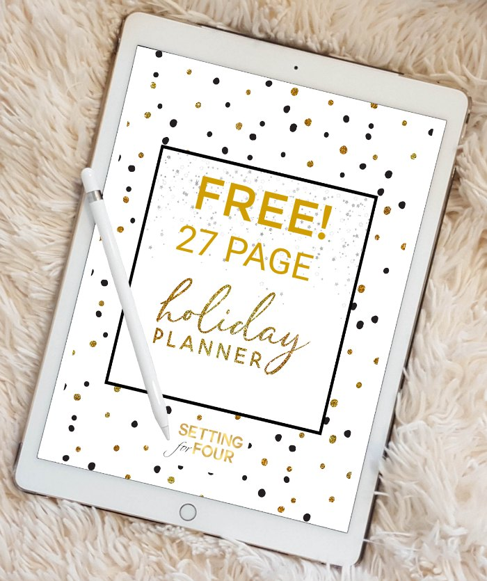 Chic Holiday Planner - 27 Pages! - Setting for Four