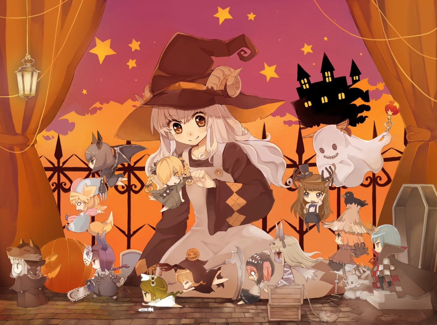 Cute Chibi Anime Wallpapers Wallpapers Happy Halloween Sevelina Games For Girls
