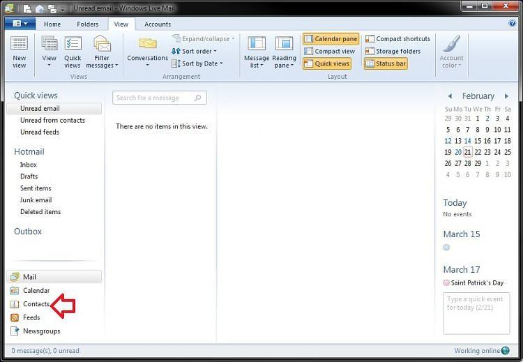 Where can I locate Windows live mail contact list? - Windows 7 Help