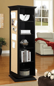 Rotating Shelf Unit With Mirror Practical 360 Degrees
