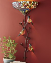 Stained Glass Bird Sconce | Seventh Avenue