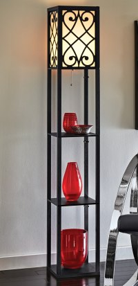 Eurico Floor Lamp with Shelves