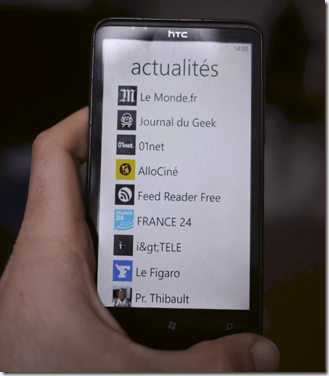 windows phone liste d'applications