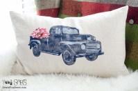 Vintage Truck Pillow + a Blog Hop | Sew a Fine Seam