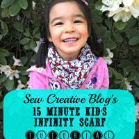 Sew Creative's 15 Minute Kid's Infinity Scarf Sewing Tutorial