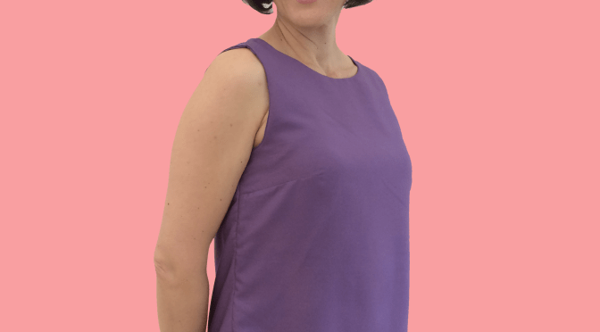 Sewing Avenue - Sleeveless Purple Top Shirt- Image -
