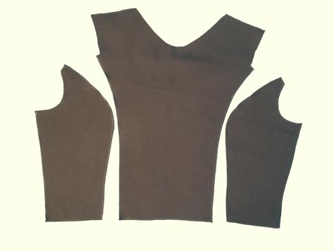 Princess-seam-fabric-pieces