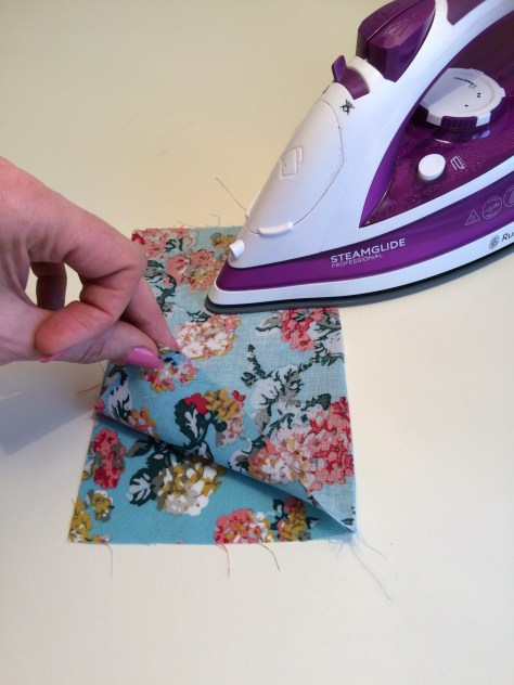 Step 3, sewing, french seam