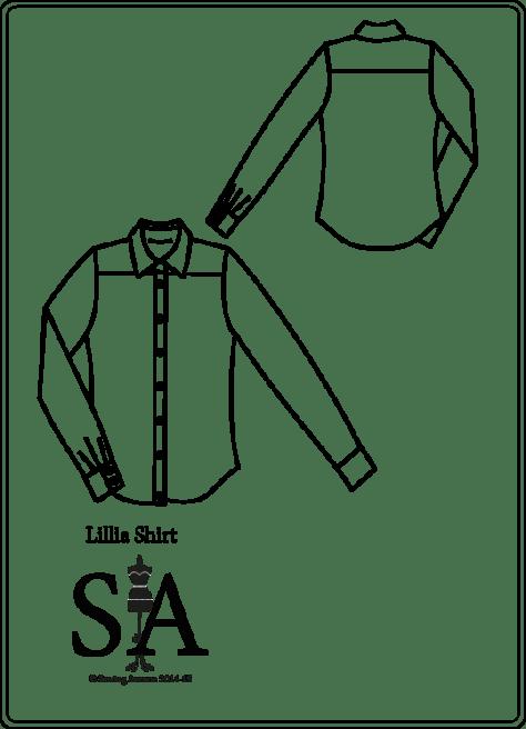 Lillia shirt flat line pattern