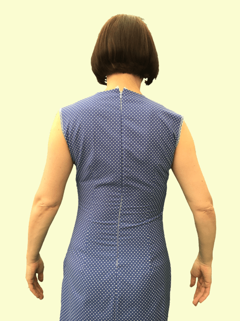 Polkadot Dress back fitting image
