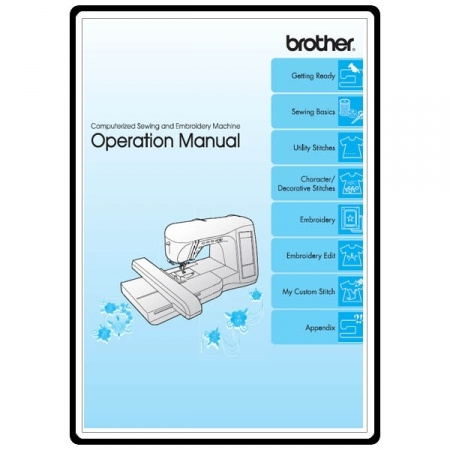 Instruction Manual, Brother Innovis 1500D  Sewing Parts Online - operation manual