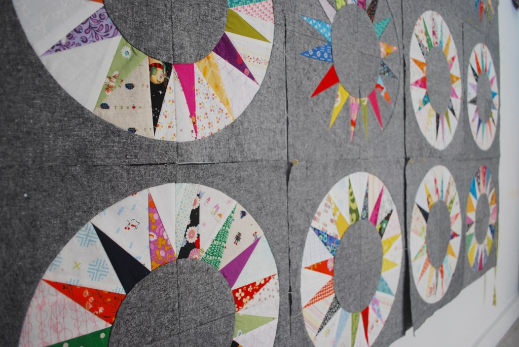 sew katie did | scrappy ny beauty paper piecing quilt block