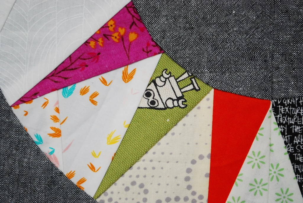 sew katie did | scrappy ny beauty paper pieced quilt block
