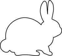 Bunny Silhouette Fabric Wall Art - Sew Much Ado