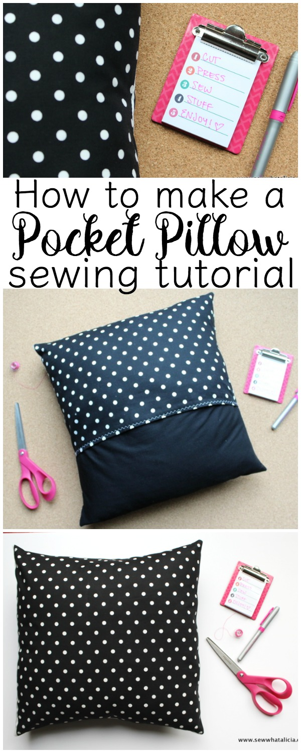 How to Make a Pocket Pillow Cover - Sewing School : If you are ready to start decorating for the holidays then you are going to want to learn how to make a pillow cover! These pocket pillow covers are a great way to update your decor and they are quick and easy! Click through for the full tutorial, these will take you less than 10 minutes each! | www.sewwhatalicia.com