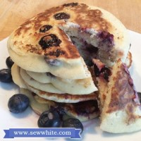 Blueberry American style Pancakes - lactofree and gluten free