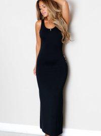 Women Tight Long Black Backless Prom Dresses - Online ...