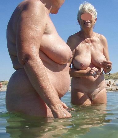 grandma naked beach