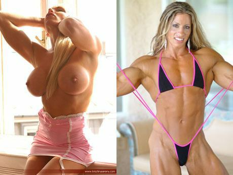 nude athletic women muscles