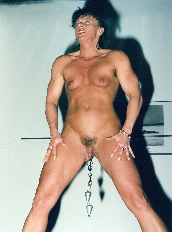 leggs muscular nude female spread