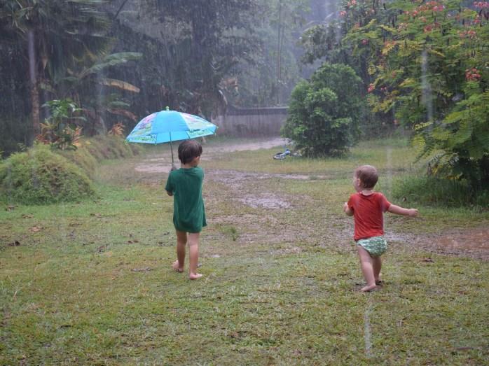 Splish Splash Splosh! Rain in Seychelles