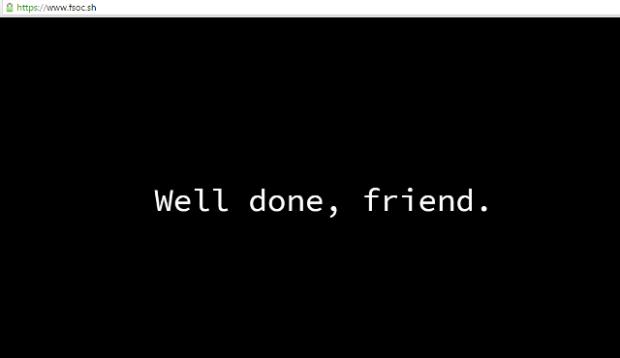 Mr. Robot 2 - Well done, friend