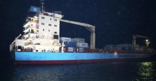The cargo ship Maersk Alabama arrives in Mombasa, Kenya, April 11. – Photo: Sayyid Azim, AP