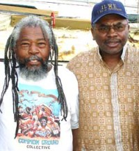 Clarence Thomas (right) with Malik Rahim in New Orleans in April 2006 – Photo: Delores Thomas