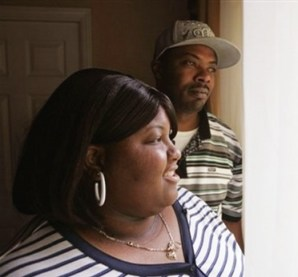 "Interviewed last December by the Associated Press about the racial tension in Antioch toward Section 8 tenants renting upscale suburban homes, Karen and Thomas Coleman say they simply want a good place to raise their three children. But after five years in Antioch, the Colemans still feel that ""they don't want us here."" – Photo: AP"