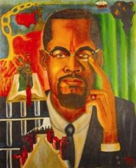 """The Malcolm X Experience"" is the work of political prisoner Zolo Agona Azania."