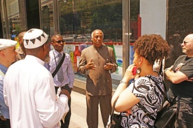 An act of piracy is what New York Councilman Charles Barron called the kidnapping of former Congresswoman Cynthia McKinney and others aboard Free Gazas Spirit of Humanity and seizure of the boat by the Israeli Navy in international waters, when he held a press conference in New York the same day it occurred. The Free Gaza 21, including McKinney spent the next week in an Israeli prison. On July 15, two weeks after the seizure, he and McKinney and M-1 of dead prez, along with British MP George Galloway, succeeded in bringing aid to Gaza with the convoy Viva Palestina. The convoy flew U.S., Palestinian and Black Liberation flags.  Photo: Bud Korotzer, Next Left Notes