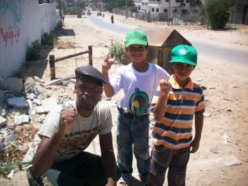 M1 with two little Palestinian boys in Gaza
