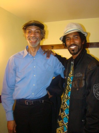 Photographer Siraj Fowler got this photo wit Gil Scott Heron in his dressing room after the concert in San Francisco. These photos were taken with Sirajs camera.  Photo: Minister of Information JR